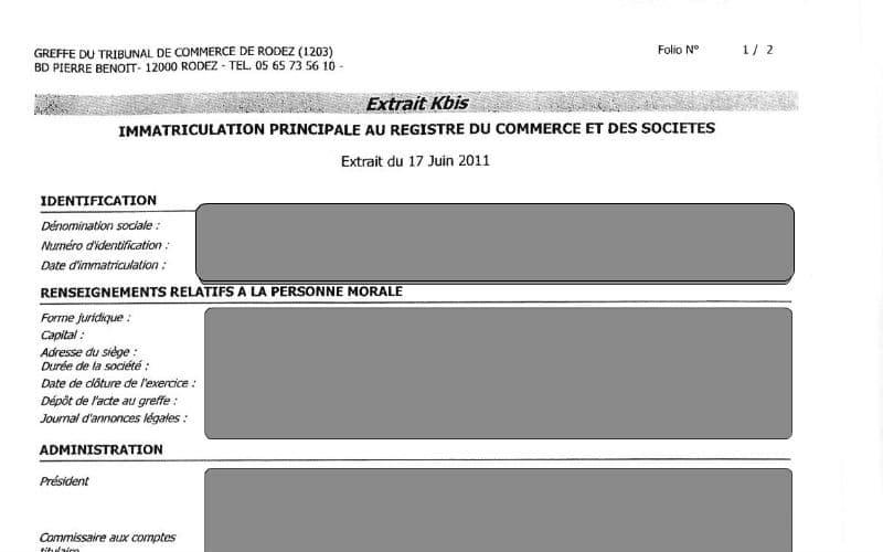 Kbis d finition renseignement et informations entrepreneur - Immatriculation chambre de commerce ...